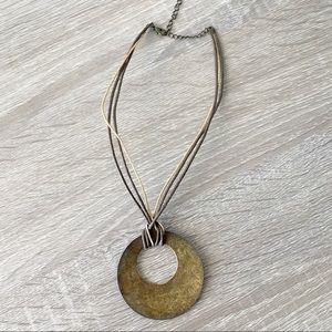 Jewelry - ⭐️ 3/$12 Antiqued Bronze Medallion Rope Necklace